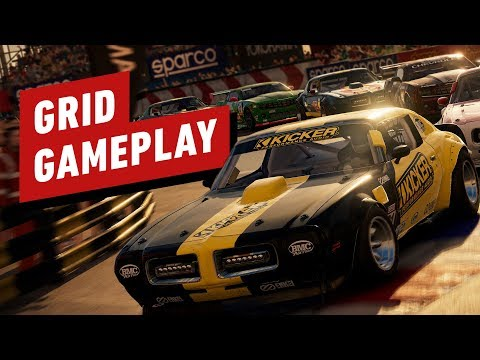 Grid gets first gameplay trailer with lots of crashing