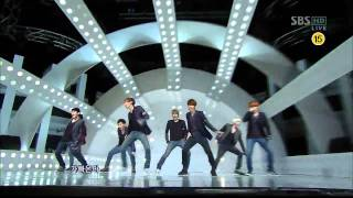[sbs 인기가요] 슈퍼주니어 - 아차, Super Junior - A-Cha 642회 2011년10월9일 일요일