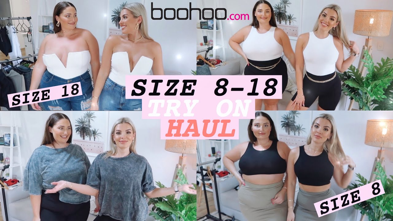 [VIDEO] - SIZE 8 VS. SIZE 18 TRY THE SAME OUTFITS FROM BOOHOO 👚 JAZ HAND 9