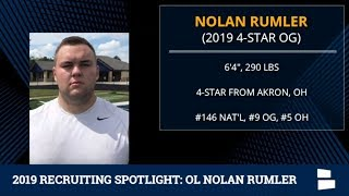 Nolan Rumler: 2019 Michigan Football Recruiting Profile On The 4-Star OL from Akron, OH
