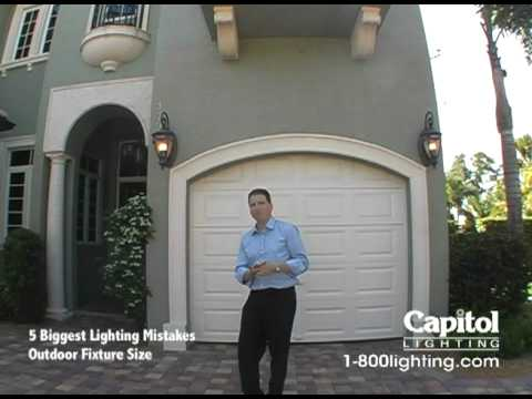 5 Biggest Lighting Mistakes - Outdoor Fixture Size - YouTube