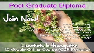 Cph - Postgraduate Licentiate Diploma in Homeopathy - Explained by Ellen Kramer (MCPH)
