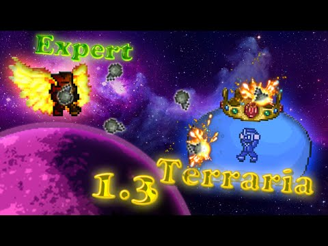 Terraria 1.3 (Expert) - Королевский слизень (King Slime)