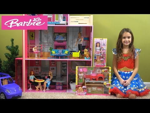 Barbie and Ken Pizzeria Story with NEW Barbie Pizza Chef and Barbie You Can Be Anything Toys