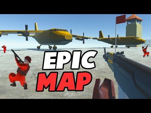 EPIC New Map, GIANT FORT & Beach Defense (Ravnefield New Update Gameplay)