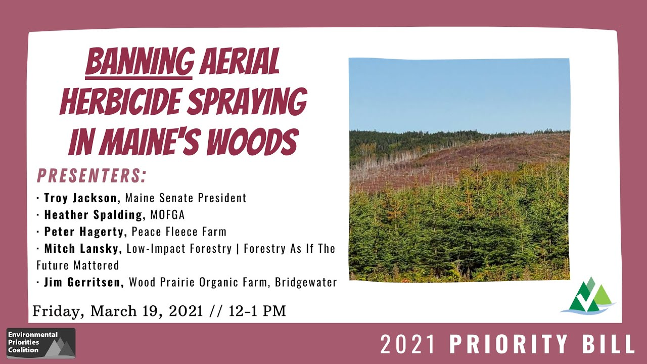 Lunch & Learn: Banning Aerial Herbicide Spraying in Maine's Woods