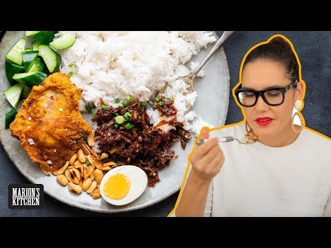How to make Malaysia's FAMOUS rice dish at home   Nasi Lemak   Marion's Kitchen
