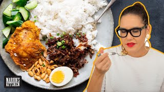 How to make Malaysia's FAMOUS rice dish at home | Nasi Lemak | Marion's Kitchen