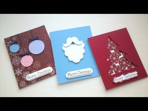 DIY Easy Christmas Card Ideas - Handmade Card