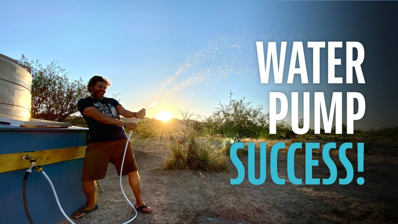 Water Pump Success - Solar Powered Pressurized Water OFF-GRID