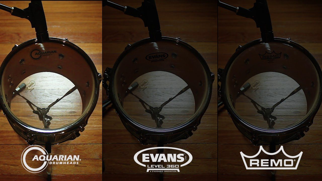 drumtune pro comparing aquarian evans remo drum head sounds at same tuning youtube. Black Bedroom Furniture Sets. Home Design Ideas