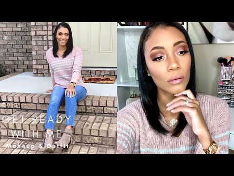 GET READY WITH ME 2018| THANKSGIVING MAKEUP & OUTFIT