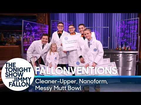 GE Fallonventions: Cleaner-Upper, Nanoform, Messy Mutt Bowl