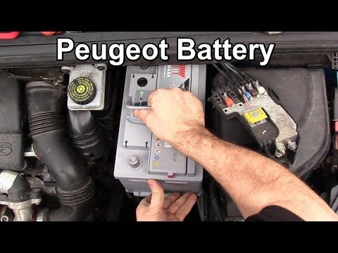 How to Remove and Replace the Battery in a Peugeot 307 and 308