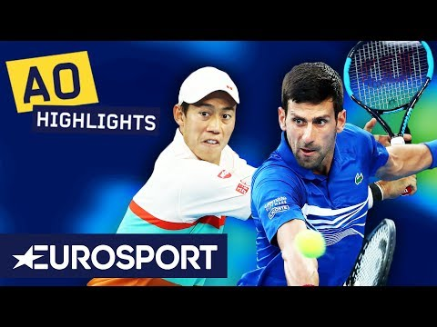 Novak Djokovic vs Kei Nishikori Highlights | Australian Open 2019 Quarter-Finals