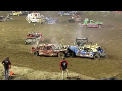 Juab County Fair Nephi Utah Demolition Derby Main Event 2017