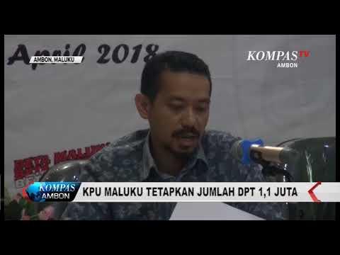 KPU MALUKU TETAPKAN JUMLAH DPT PILKADA MALUKU 2018