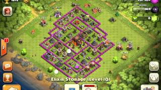 Clash of clans estructura de defensa ayuntamiento nivel 9-10 actualizada