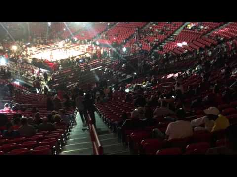 Looking for our seats, Thomas and Mack Center Nov 5, 2016