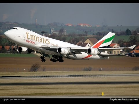 Decolagem Viracopos EMIRATES 747-400 HD