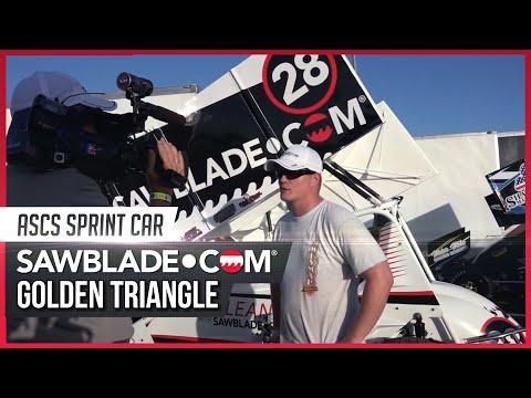 Sawblade.com Sprint Car, Golden Triangle, July 18, 2015