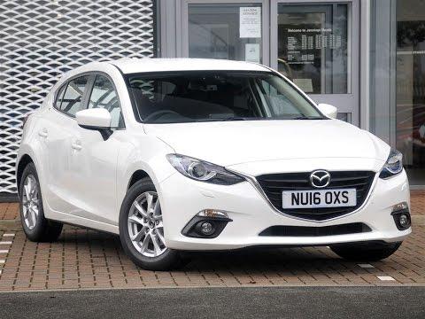 Used Mazda 3 2 0 Se L Nav 5dr Snowflake White 2016