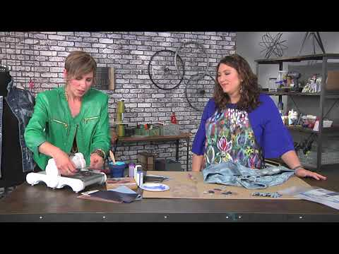Add Bling To A Jean Jacket On Make It Artsy With Candie Cooper 512