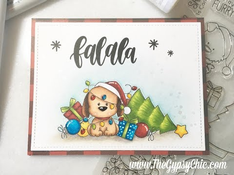 My Favorite Things Happy Pawlidays  |  Single Layer Card Tutorial
