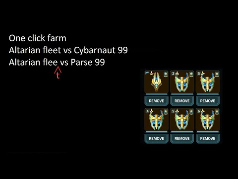 VEGA Conflict PVE Lazy Farm Altarian Fleet Vs Cybernaut 99 And Parse 99, One Click Farm!