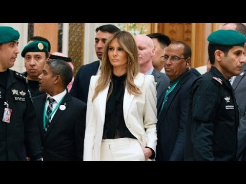 Melania's controversial outfits in the Middle East
