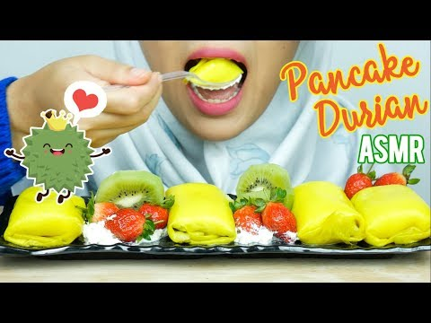 #62 Request ASMR Eating Sounds: Pancake Durian || ASMR Indonesia