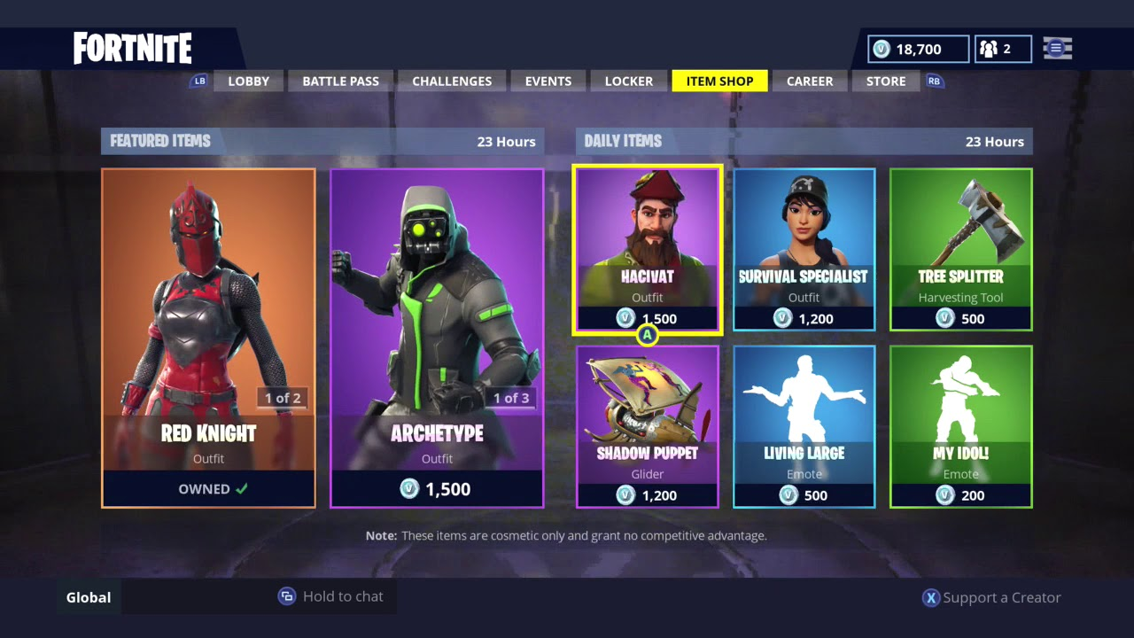 daily item shop today fortnite battle royale 17 10 2018 - whats in the shop in fortnite today