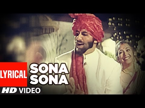 'Sona Sona' Lyrical VIDEO - Major Saab | Amitabh Bachchan, Ajay Devgn, Sonali Bendre