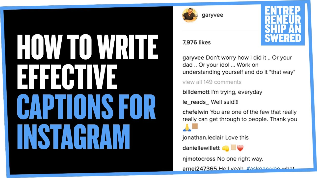 How to write effective captions for instagram youtube solutioingenieria Gallery