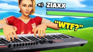 Using a PIANO to TALK in Fortnite Battle Royale!