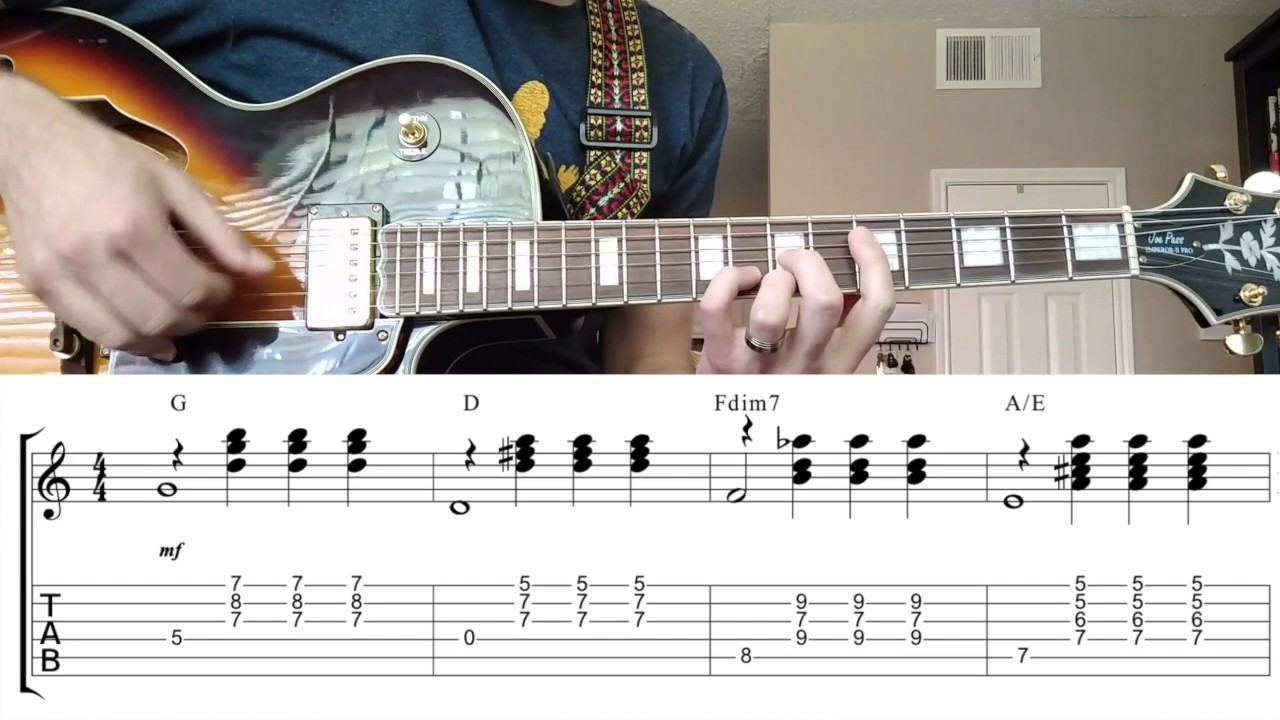 S Town Theme For Guitar A Rose For Emily With Tabs And Chords