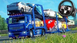 CARGA de CARRO DE LUXO!!! - Euro Truck Simulator 2 + G27