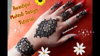 Mehndi Mandala Designs : Flower mandala mehndi design flowers healthy