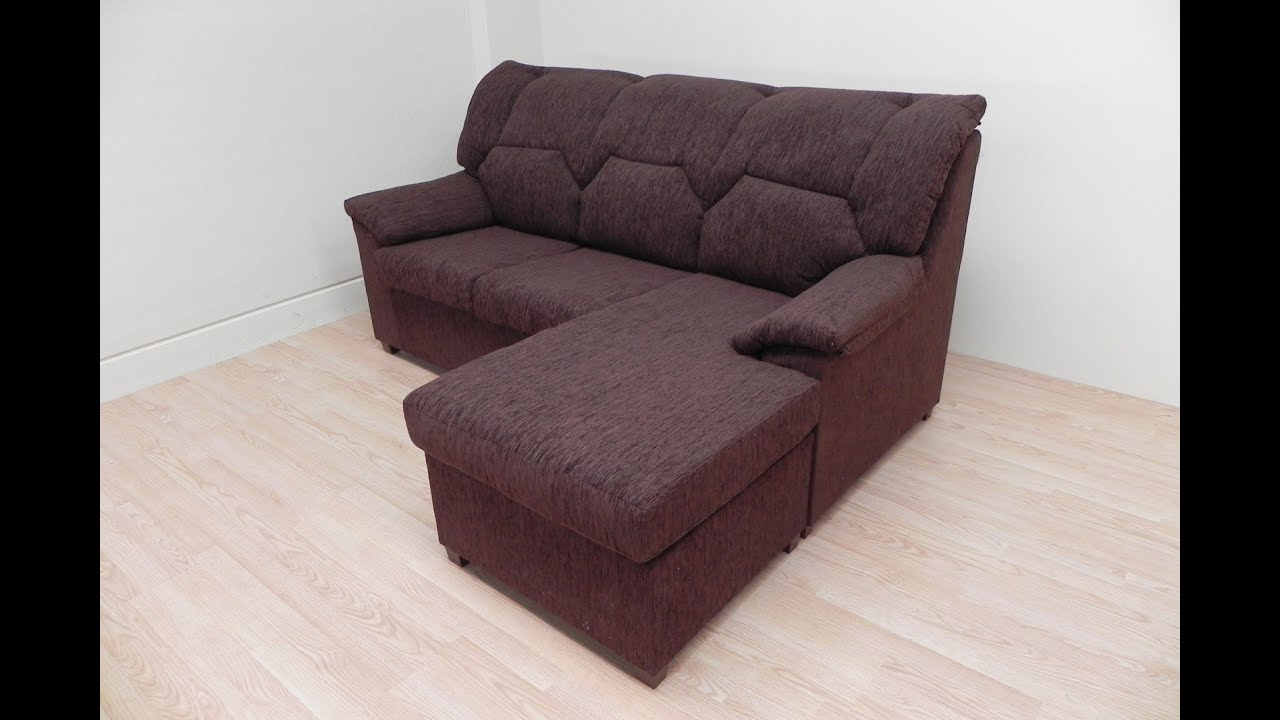 sofa chaiselongue tapizado marr n o gris de salon comedor rinconer c modo y econ mico youtube