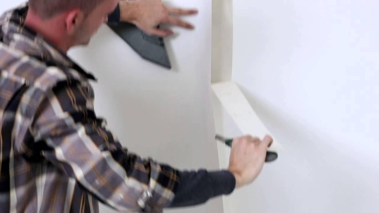 Inredning cover up tapet : Slik setter du opp overmalbare tapeter som filt og vev - YouTube