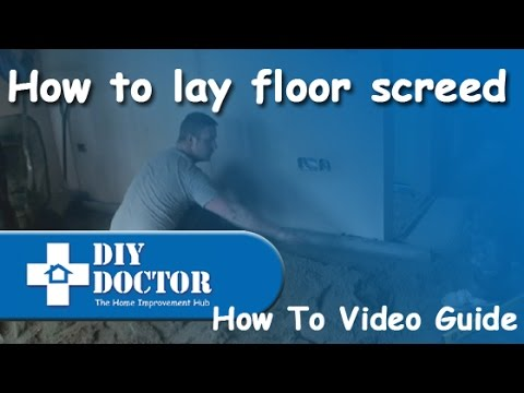 Laying And Levelling A Sand And Cement Floor Screed Over
