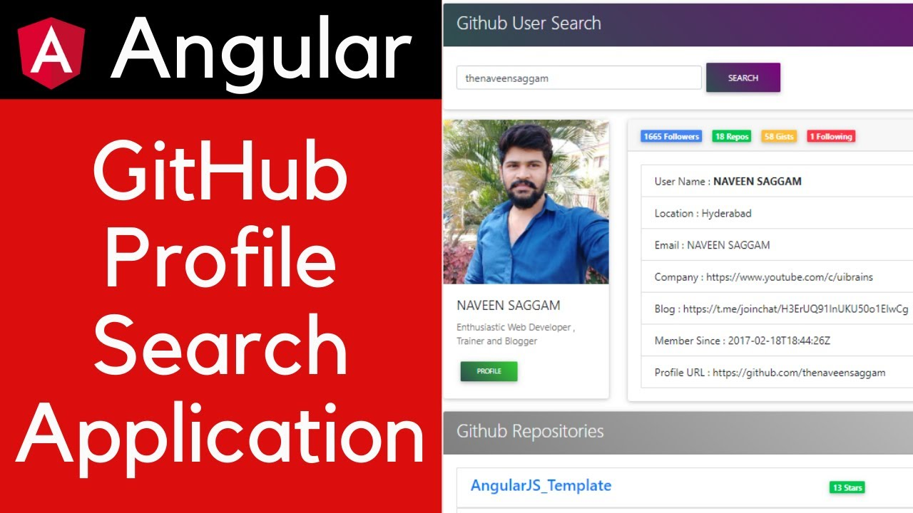 GitHub Profile Search App in Angular 10