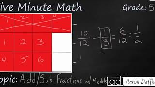 5th Grade Math Add and Subtract Fractions with Models