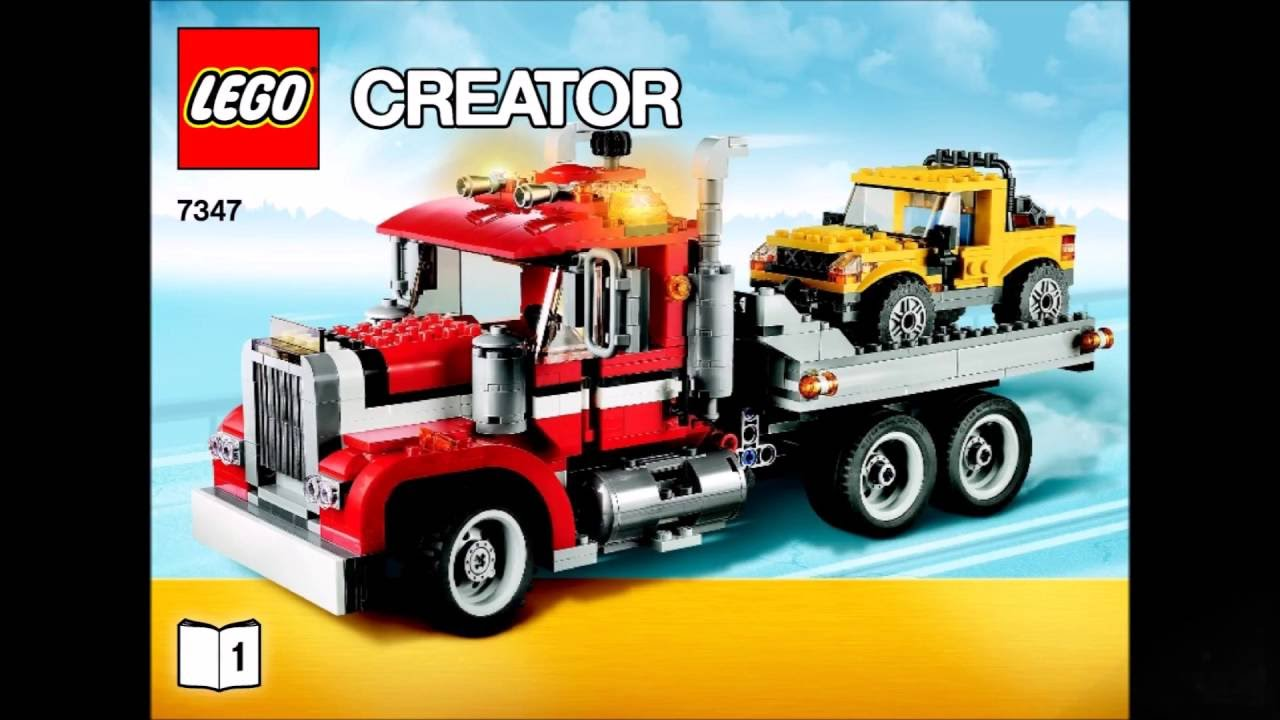 Lego Creator 7347 Highway Pickup 3 In 1 Instructions Diy Book 1