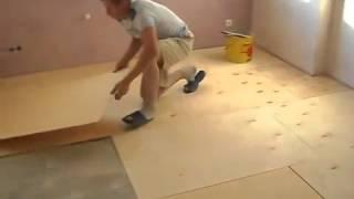 видео Выравнивание пола фанерой без лаг