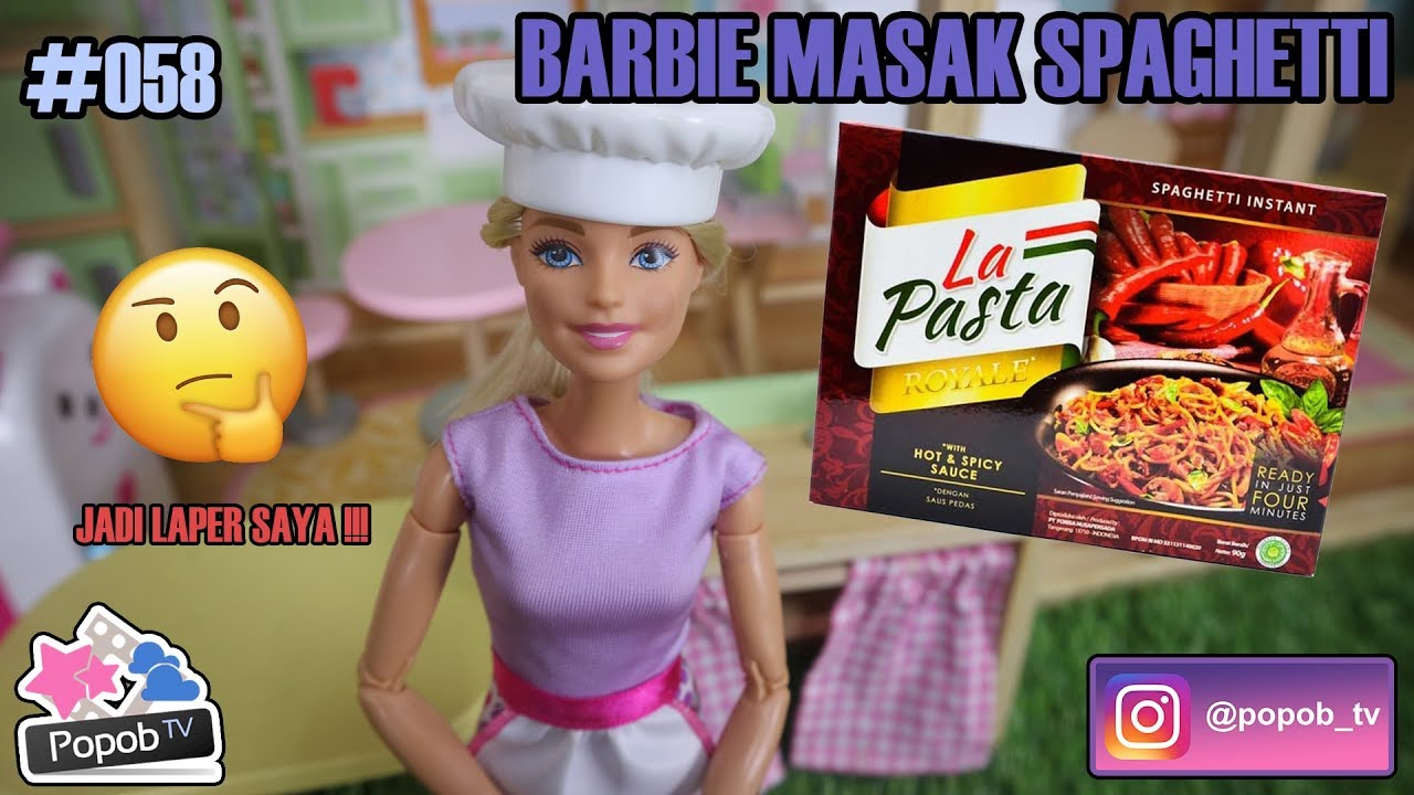 Barbie Masak Spagheti Mellchan Bahasa Indonesia Popob Tv Ep 58 Youtube