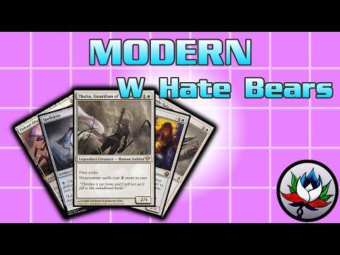 Скачать MTG - Annoying Mono White Hate Bears/Death and Taxes Modern Deck  Tech for Magic: The Gathering! - смотреть онлайн - Видео
