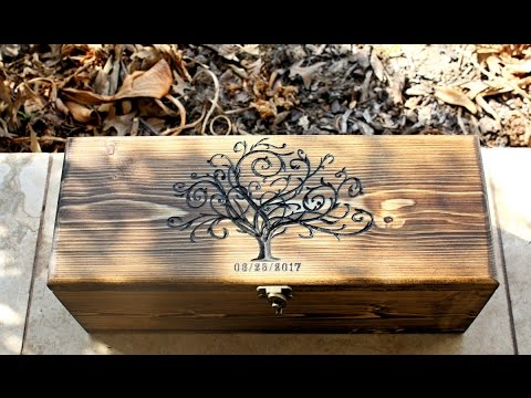 Personalized Wine Bottle Box Wedding Gift Time Capsule Cwd 434