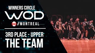 THE TEAM | 3rd Place Upper | World of Dance Montreal Qualifier 2017 | Winners Circle | #WODMTL17