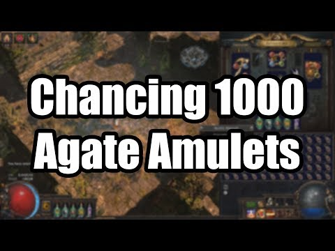 Chancing 1000 Agate Amulets